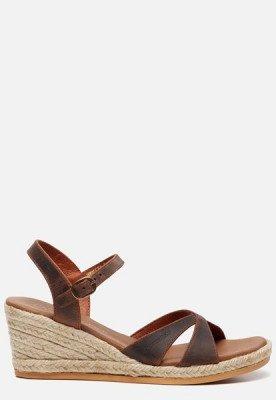 Panama Jack Panama Jack Benisa B800 sandalen met sleehak cognac