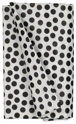 HEMA HEMA Tafelzeil 140x240 Polyester - Stippen Wit/zwart (wit/zwart)