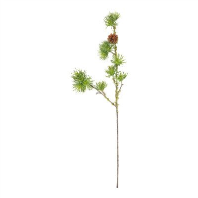 Firawonen.nl PTMD Twig Plant green mosses pine spray with pinecone