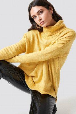 Trendyol Trendyol Turtle Neck Basic Sweater - Yellow