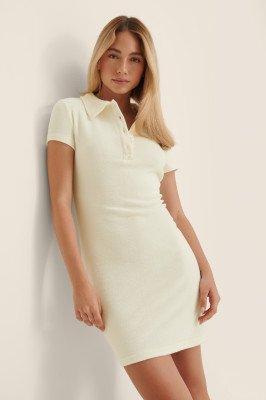 NA-KD NA-KD Organisch Mini-jurk Van Badstof - Offwhite