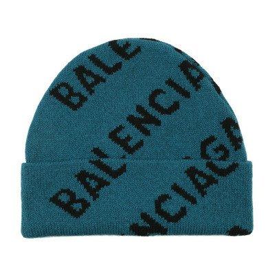 Balenciaga Beanie With All-over Logo