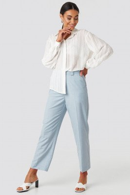 NA-KD Classic NA-KD Classic Tailored Mid Rise Suit Pants - Blue