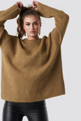 Statement By NA-KD Influencers Statement By NA-KD Influencers Katarina Juric Knitted Sweater - Beige