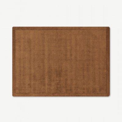MADE.COM Jago vloerkleed met rand, groot, 160 x 230 cm, terracotta