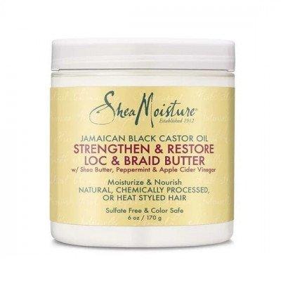 Shea Moisture LOC & Braid Butter met castor olie & sheabutter - 177 ml Shea Moisture