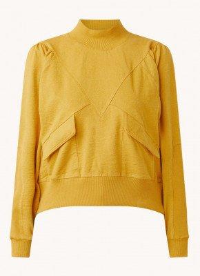 BAenSH ba&sh Batiste sweater met pofmouw en klepzakken