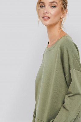 NA-KD Basic NA-KD Basic Basic Wide Sweater - Green