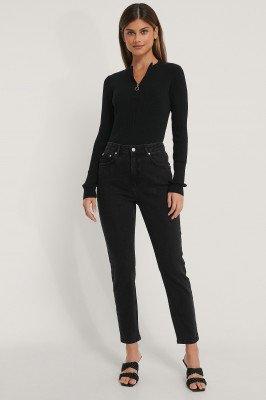 NA-KD NA-KD Mom Jeans - Black