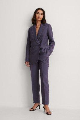 NA-KD Classic NA-KD Classic Gestructureerde Pantalon - Purple