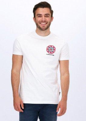 Scotch en Soda Witte Scotch & Soda T-shirt Graphic Jersey T-shirt