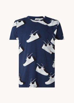 Snurk Snurk Sneaker Freak pyjama T-shirt van biologisch katoen met print
