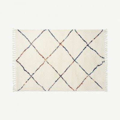 MADE.COM Perdru vloerkleed in Berberstijl, groot, 160 x 230 cm, meerkleurig