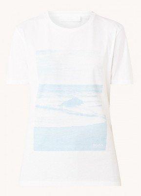 Boss BOSS Elma T-shirt met frontprint