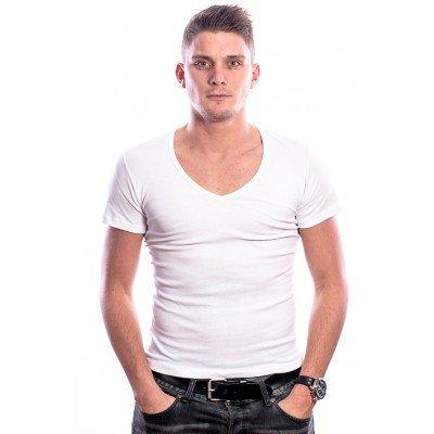 Beeren Men T-Shirt V-Hals Diep Wit (3 pack)