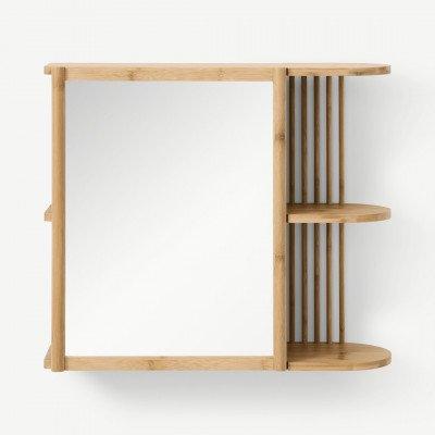MADE.COM Gian spiegel met opbergruimte, bamboe