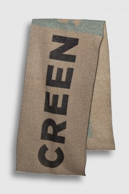 Creenstone Creenstone Creenstone logo scarf - Celadon