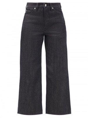 Matchesfashion Jil Sander - High-rise Flared-leg Cropped Jeans - Womens - Dark Denim