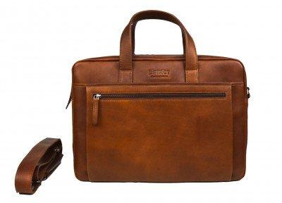 DSTRCT DSTRCT Premium 17 inch Laptoptas Cognac
