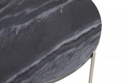 Light & Living Light & Living Bijzettafel 'Delon' Set van 2 stuks, marmer grijs-nikkel