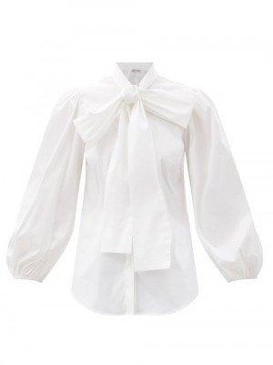 Matchesfashion REDValentino - Balloon-sleeves Cotton-blend Poplin Shirt - Womens - White