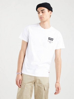 Levi's Graphic Housemark T shirt - Wit / White