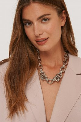 NA-KD Accessories Oversize Chunky Chain Ketting - Silver
