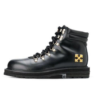 Off-White Off-White Arrows Applique Hiking Boots Black