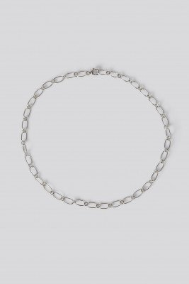 NA-KD Accessories Sterling Silver Thin Chain Necklace - Silver