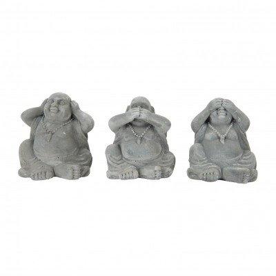 Xenos Boeddha zien/horen/zwijgen - 12x10x12.5 cm