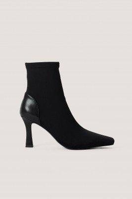 Chloé B x NA-KD Chloé B x NA-KD Laarzen Met Vierkante Voorkant - Black