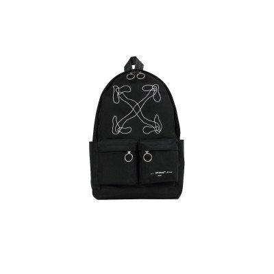 Off-White Off-White Abstract Arrows Backpack Black White