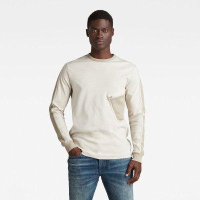 G-Star RAW Mesh Pocket Tweeter T-Shirt - Beige - Heren