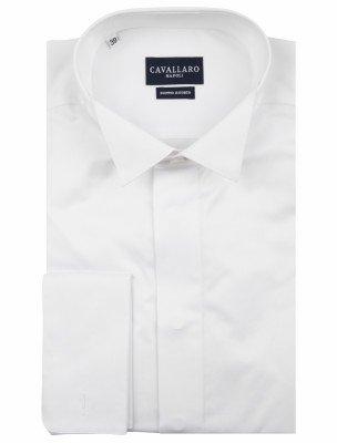 Cavallaro Napoli Cavallaro Napoli Heren Overhemd - Men Overhemd Plain - Wit