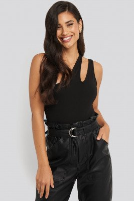NA-KD Party NA-KD Party One Shoulder Cut Out Body - Black