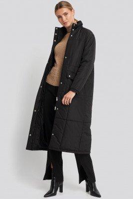 NA-KD Trend NA-KD Trend Long Padded Jacket - Black