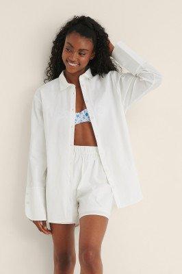 Mimi A.R x NA-KD Mimi A.R x NA-KD Oversized Katoenen Shirt - White
