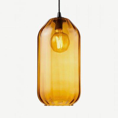 MADE.COM Andes hoge lampenkap, ambergeel glas