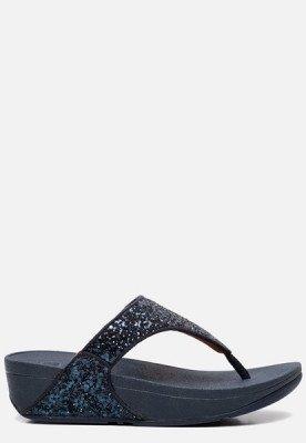 FitFlop FitFlop Lulu Glitter Toe Thong slippers blauw