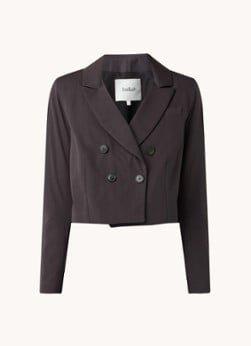 BAenSH ba&sh Vanny double-breasted cropped blazer met borstzak