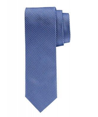 Profuomo Profuomo heren blauw dessin zijden stropdas