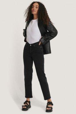NA-KD NA-KD Rechte Jeans - Black