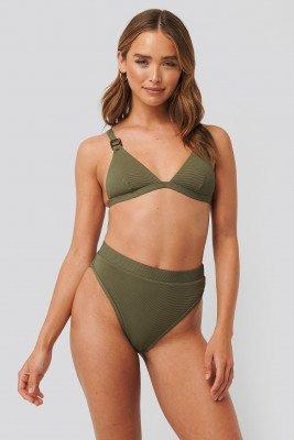 NA-KD Swimwear NA-KD Swimwear Structured Edge Maxi Highwaist Panty - Green