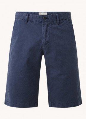 Marc O'Polo Marc O'Polo Straight fit korte chino broek met steekzakken