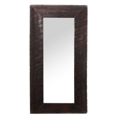 Firawonen.nl Indica brown mango wooden mirror rectangle s