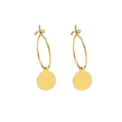 GOLD ROUND PETAL EARRINGS