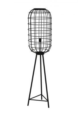 Light en Living Light & Living Vloerlamp 'Toah' 151cm, kleur Mat Zwart
