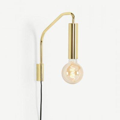 MADE.COM Lennox wandlamp, messing