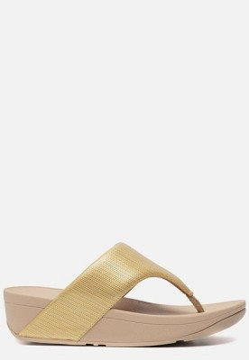 FitFlop FitFlop Olive Textured Glitz slippers goud