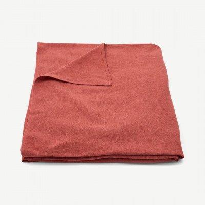 MADE.COM Original Home tafelkleed van 100% gerecycled katoen, 300 x 165 cm, rood